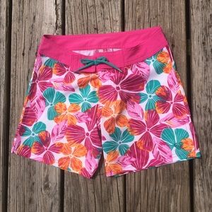 Roxy Surf Shorts Hot Pink Hawaiian 8 NWOT